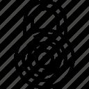 combination lock, crime, lock, locker, security icon