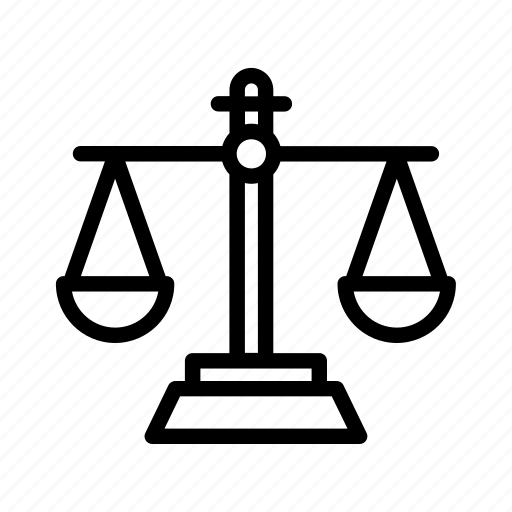 balance, justice, law, legal, libra, scale icon