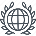 court, earth, globe, international, law, legal, trial icon