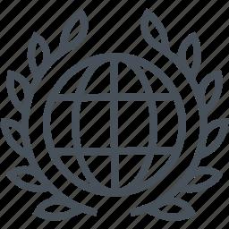 court, earth, globe, international, law, legal, trial icon