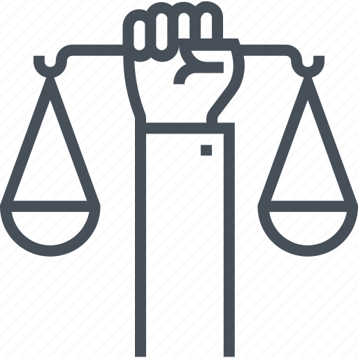 human, jury, law, legal, rights, scale, trial icon