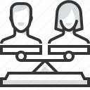 court, divorce law, family, female, male, separation, sue icon
