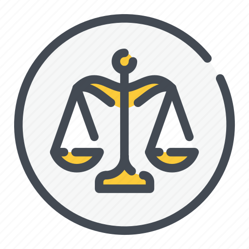 justice, law, scale icon