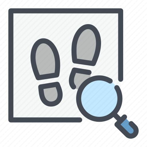 find, foot, law, print, search icon