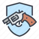 justice, law, pistol, weapon, пun icon