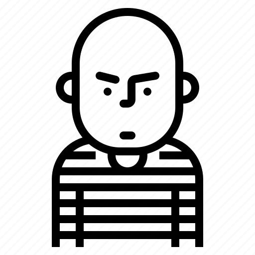 avatar, criminal, man, prisoner icon
