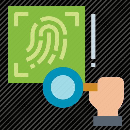biometrics, fingerprint, investigate, scanning icon