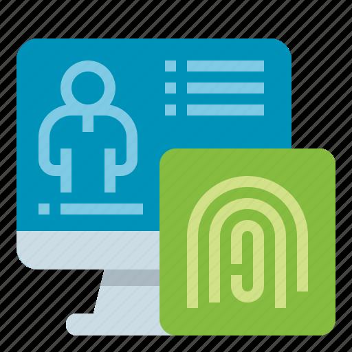 finger, identification, investigate, scan icon