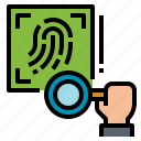 biometrics, fingerprint, investigate, scanning icon