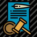 convicted, court, gavel, judge icon
