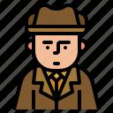 avatar, detective, investigator, occupation icon