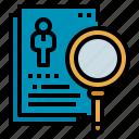 detective, investigate, investigator, magnifier, search icon