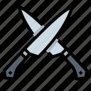 cook, kitchen, kitchenware, knife icon