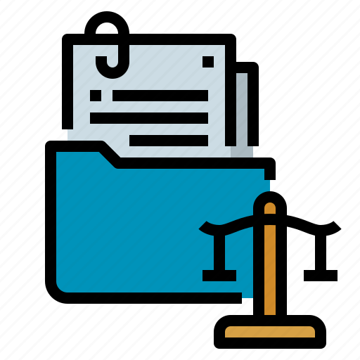 case, court, file, law, trial icon