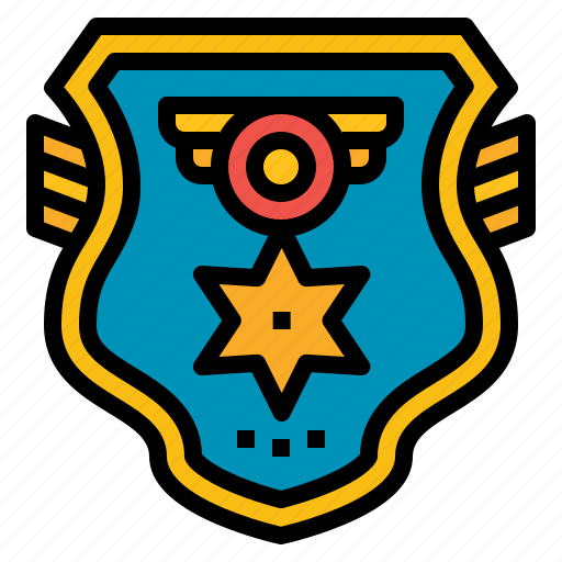badge, investigating, police, security icon