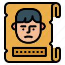 crime, poster, reward, thief, wanted icon