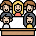 jury, verdict, people, courtroom, audience icon