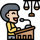 lectern, speech, podium, press, conference icon