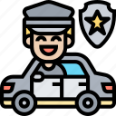 police, car, dispatch, emergency, vehicle icon