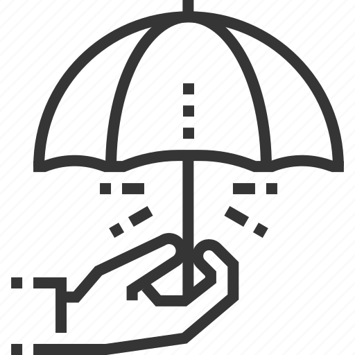 assurance, hand, insurance, justice, law, protection, umbrella icon