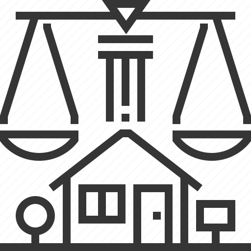 court, house, justice, law, property, real estate, residency icon