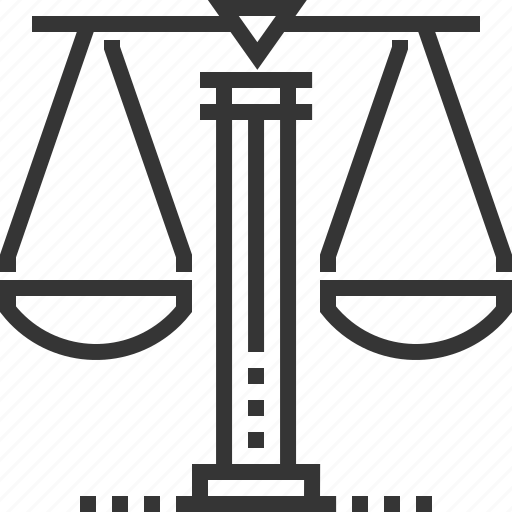 court, equality, judge, justice, law, measure, scale icon