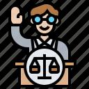 attorney, courtroom, lectern, prosecutor, testimony icon