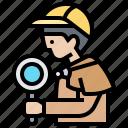 detective, inspector, investigator, mystery, spy icon