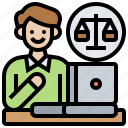 advocate, attorney, courtroom, lawyer, prosecutor icon