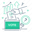 ballot, election, poll, vote icon