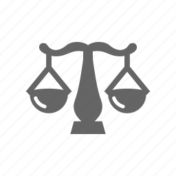 judgement, law, scales icon