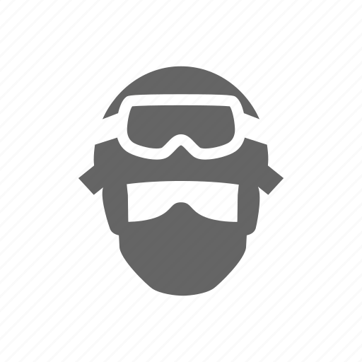 face, fighter, swat icon