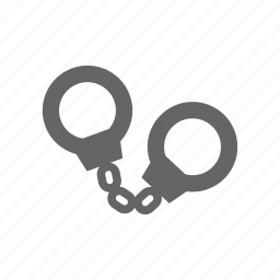 handcuffs, manacle, manacles icon