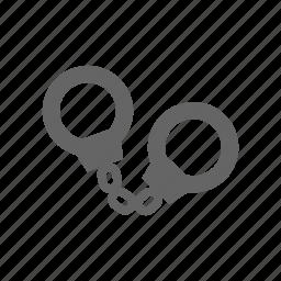 handcuffs, manacle, manacles icon