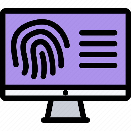 court, crime, fingerprint, law, lawyer, police, search icon