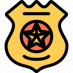 badge, court, crime, law, lawyer, police icon
