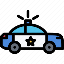car, court, crime, law, lawyer, police icon