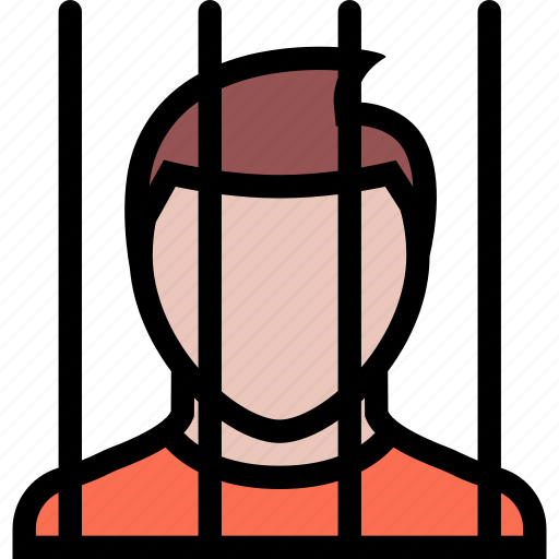 court, crime, law, lawyer, police, prisoner icon
