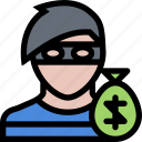 court, crime, law, lawyer, police, robber icon