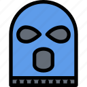 court, crime, law, lawyer, mask, police, robber icon