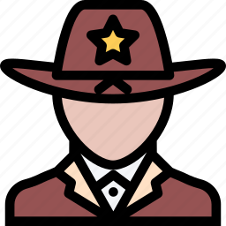 court, crime, law, lawyer, police, sheriff icon