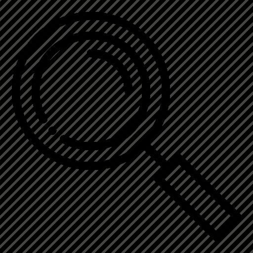 crime, detective, find, glasses, scene, search, zoom icon