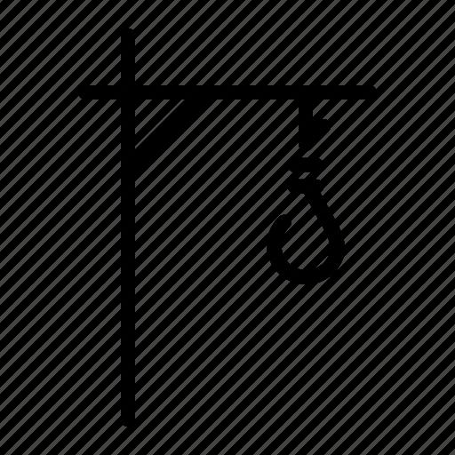 capital, death, hang, hangman, punishment, suicide, tree icon
