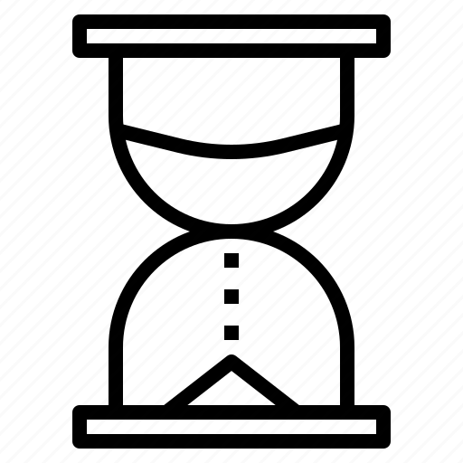 clock, hourglass, sand, time, timer, watch icon