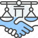 agreement, arbitrator, collaborative, dispute resolution, law, legal, parties icon