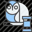 education, law, legal, owl, school, student, teacher icon