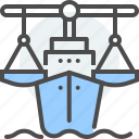 admiralty, law, legal, maritime, navigable waters, oceanic issues, ship icon
