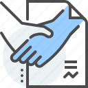 business, commerce, commercial, hand shake, law, relations, trade icon