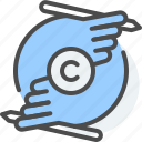 artistic, copyright, design, intellectual property, justice, law, ownership icon