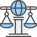 agreements, countries, globe, international, law, scale, treaties icon